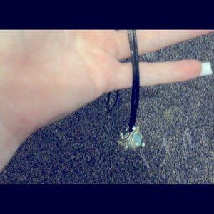 Stone fairy charm necklace